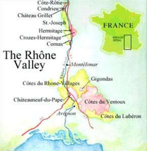Rhone Map